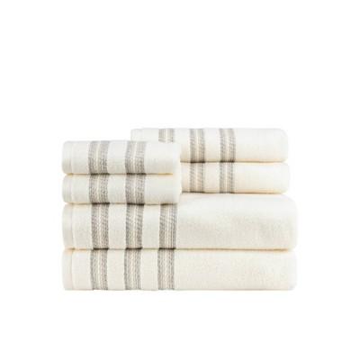 6pc Marla Border Bath Towel Set - CARO HOME