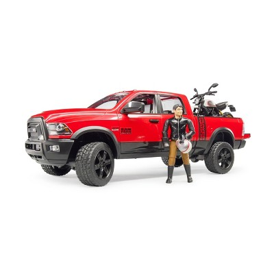 Bruder Toys RAM 2500 Power Wagon with Ducati Scrambler Desert Sled and Driver - 1:16 Scale