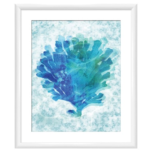 cbabab68f20 Blue Coral 18X22 Wall Art   Target