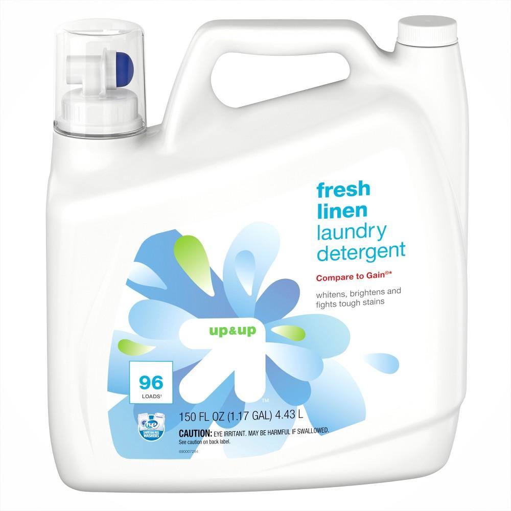 Fresh Linen HE Liquid Laundry Detergent 150oz - up & up Buy