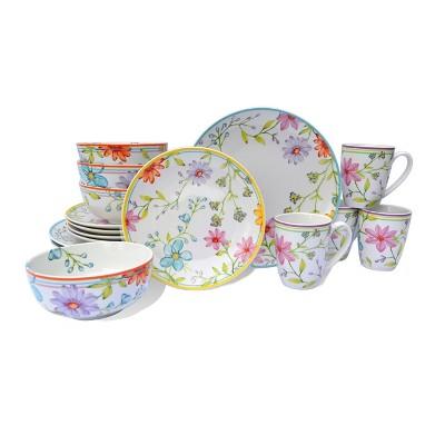 16pc Ceramic Charlotte Dinnerware Set - Euro Ceramica