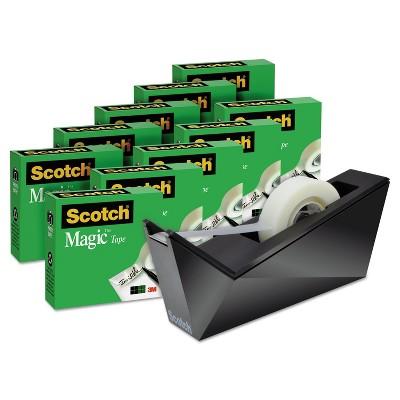 """Scotch Magic Tape Designer Dispenser Value Pack Facet Design 3/4""""x1000"""" 10 Rolls/PK 810K10C17MB"""