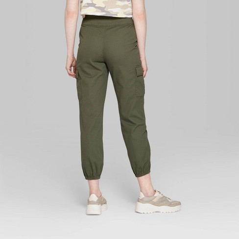 ffeb5da272dca8 Women's High-Rise Zip Front Cargo Pants - Wild Fable™ Olive. Shop all Wild  Fable