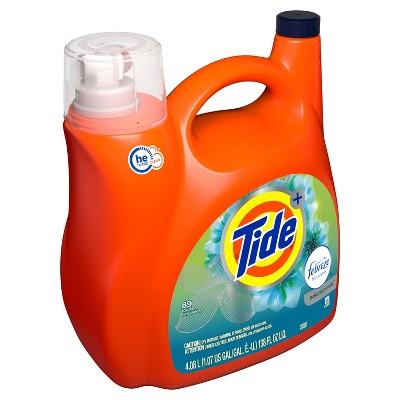 Tide Plus Febreze Botanical Rain High Efficiency Liquid Laundry Detergent - 138 fl oz
