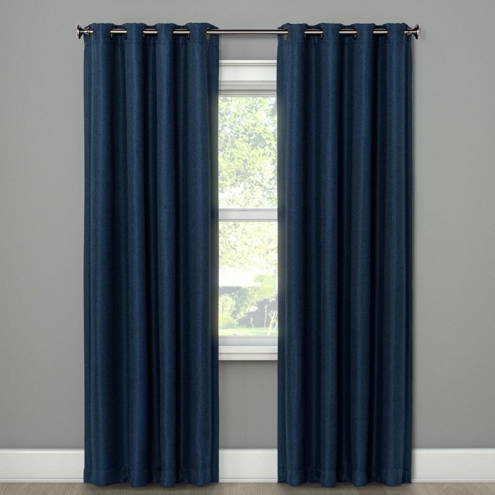 Cornell Curtain Panel Indigo (Blue) 108 - Eclipse
