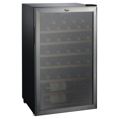 Whirlpool 35 Bottle 3.6 Cu. Ft Wine Fridge-Stainless Steel-JC-103EZ
