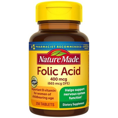 Vitamins & Supplements: Nature Made Folic Acid