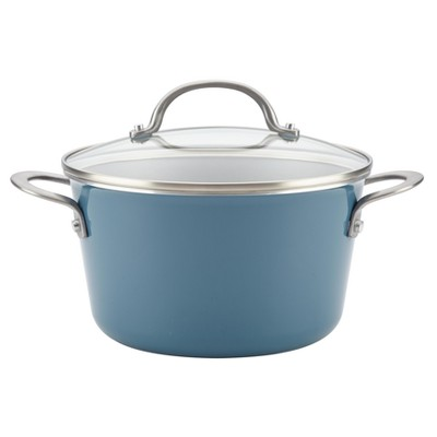 Ayesha Curry 4.5qt Covered Sauce Pot Blue