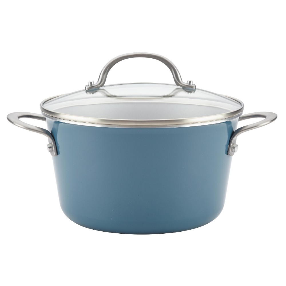 Image of Ayesha Curry 4.5qt Covered Sauce Pot Blue, Twilight Teal