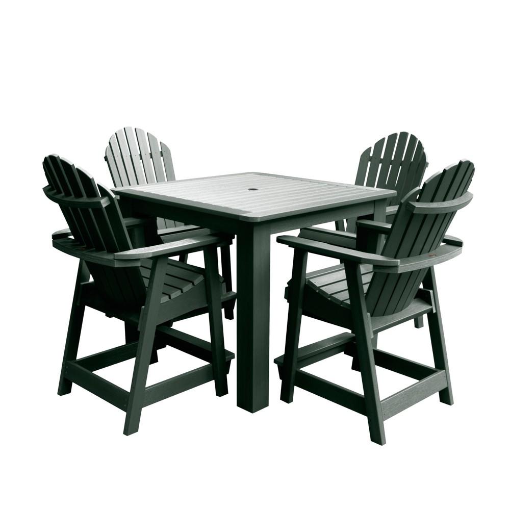 Hamilton 5pc Square Counter Dining Set Charleston Green - Highwood