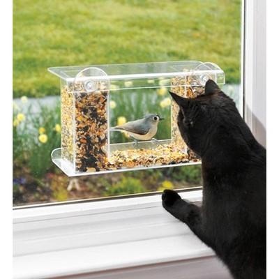 Wind & Weather One-Way Mirror Window Mount Bird Feeder