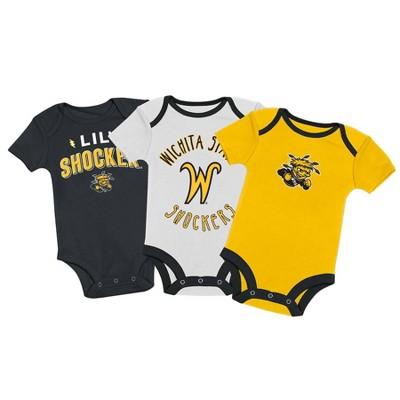 NCAA Wichita State Shockers Baby Boys' 3pk Bodysuit Set