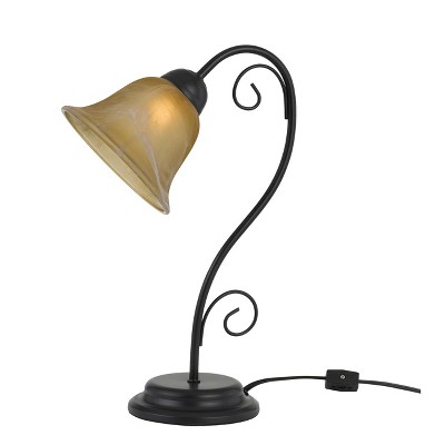 Cuneo Metal Accent Lamp With Glass Shade Black 6.8 x48.4  - Cal Lighting