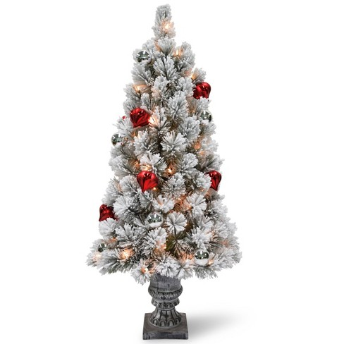 National Tree Company 4ft Snowy Bristle Pine Artificial Pencil Tree 70ct Clear - image 1 of 1