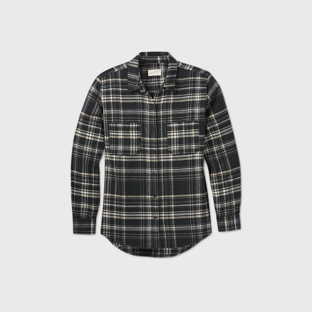 Coupons Women's Plaid Long Sleeve Button-Down Flannel Shirt - Universal Thread™