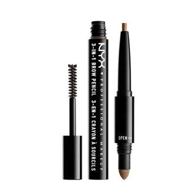 NYX Professional Makeup 3-IN-1 Brow Pencil Taupe 0.05oz