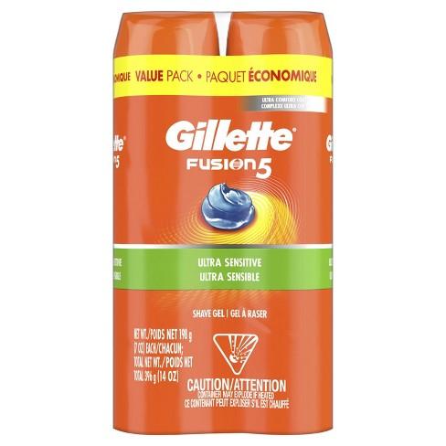 Gillette Fusion Ultra Sensitive Hydra Gel Men's Shave Gel Twin Pack - 14oz - image 1 of 4