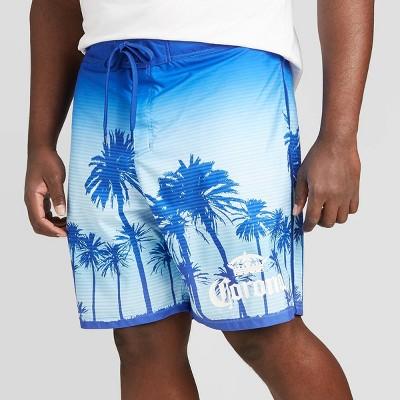 "Men's Big & Tall 10"" Corona Board Shorts - Blue 4XB"