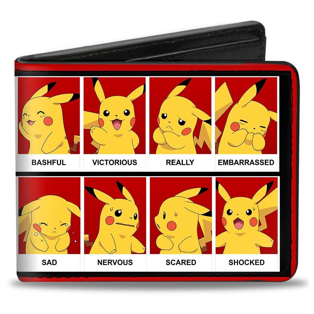 Pokemon Pikachu Emotions Wallet, Boy's, Multi-Colored