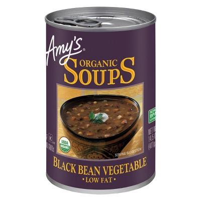 Amy's Organic Gluten Free Low Fat Black Bean Vegetable Soup - 14.5oz