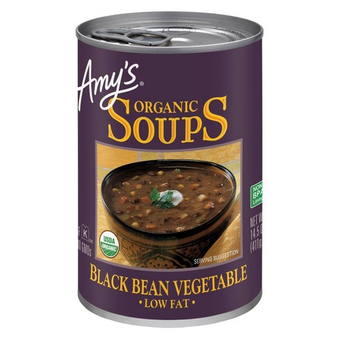 Amy's Organic Gluten Free Low Fat Black Bean Vegetable Soup - 14.5oz - image 1 of 3
