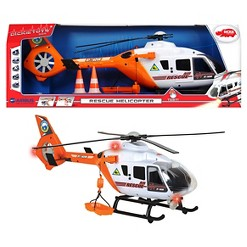 Dickie Toys - 25 Inch Light and Sound SOS Rescue Helicopter with Moving Rotor Blades