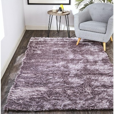 9'x12' Rectangle Hand Made Tufted Solid Area Rug Purple - Feizy