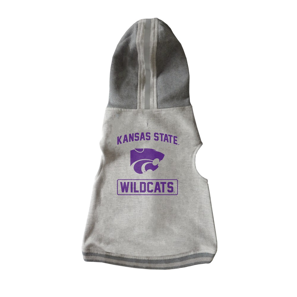Kansas State Wildcats Little Earth Pet Hooded Crewneck Football Shirt - L, Multicolored