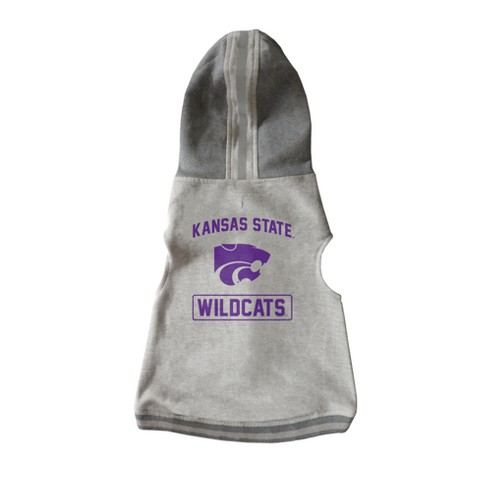 NCAA Little Earth Pet Hooded Crewneck Football Shirt - Kansas State Wildcats - image 1 of 3