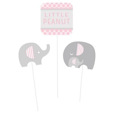 3ct Little Peanut Girl Elephant DIY Centerpiece Sticks
