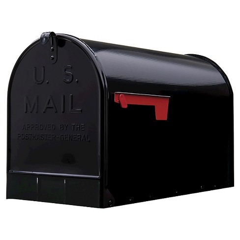 Gibraltar Extra-Large Steel Post-Mount Mailbox - Black - image 1 of 3