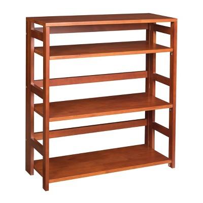"34"" Cakewalk High Folding Bookcase Cherry - Regency"