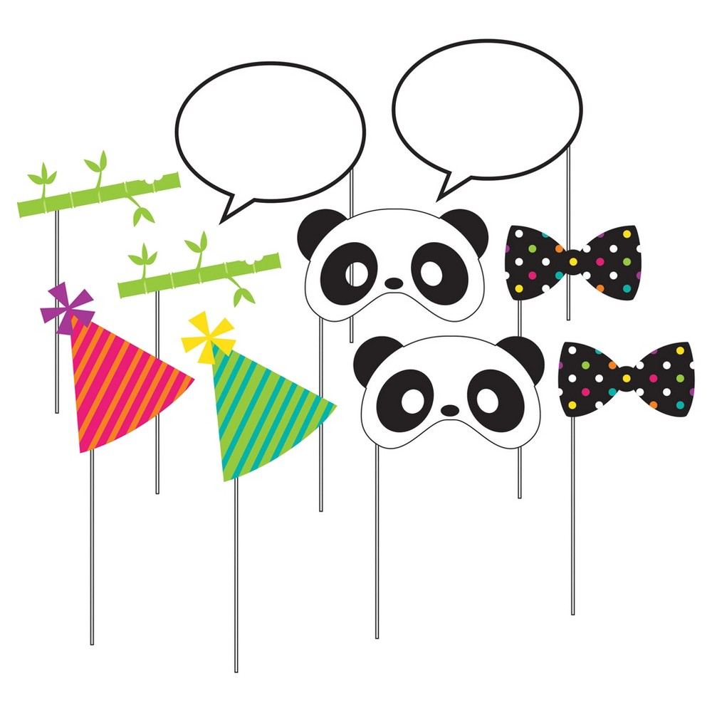 Image of 10ct Panda Photo Booth Props