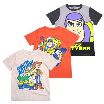 Disney Boy's 3-Pack Graphic Tee Variety  Cars, Incredibles, Simba, Kion, Maui, Mickey Mouse, Muppets, Toy Story, Puppy Dog Pals