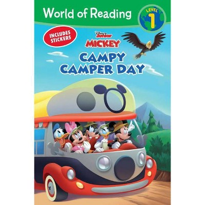 Mickey Mouse Mixed-Up Adventures Campy Camper Day - (World of Reading) (Paperback)