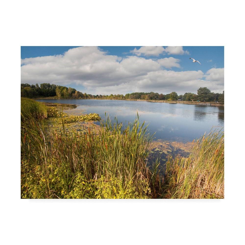 14 34 X 19 34 Hopkins Lake Owosso Mi By Monte Nagler Trademark Fine Art