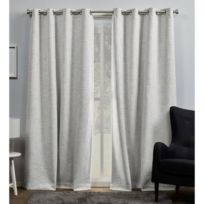Set of 2 Burke 100% Blackout Grommet Top Curtain Panel - Exclusive Home