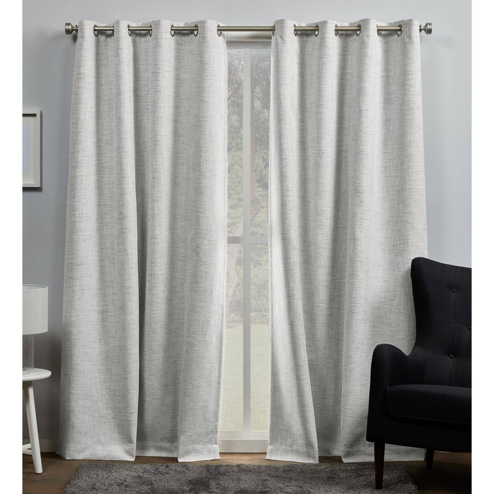 "Set of 2 84""x54"" Burke 100% Blackout Grommet Top Curtain Panel - Exclusive Home"
