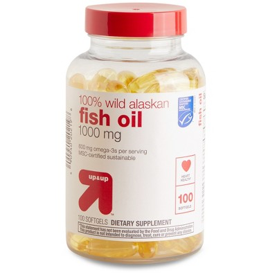 100% Wild Alaskan Fish Oil Dietary Supplement Softgels - up & up™