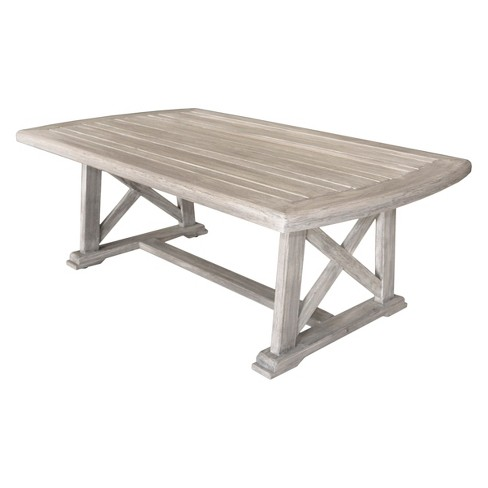 Teak Surf Side Outdoor Coffee Table Driftwood Gray Courtyard Casual Target