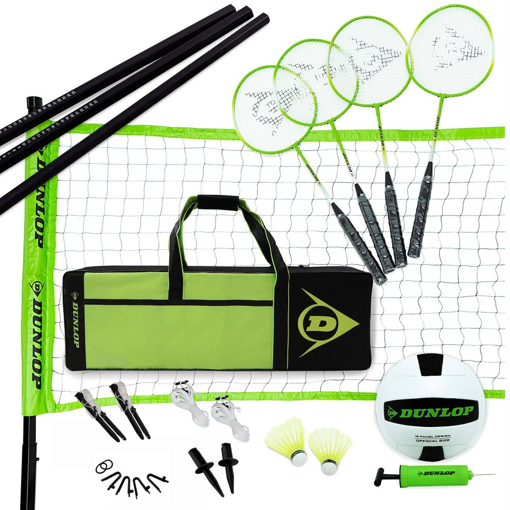 Dunlop Sport Badminton And Volleyball Combo Set
