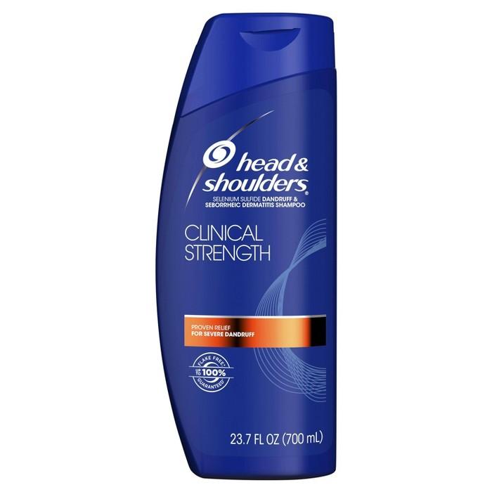 Head And Shoulders Clinical Strength Dandruff And Seborrheic Dermatitis Shampoo - 23.7 Fl Oz : Target