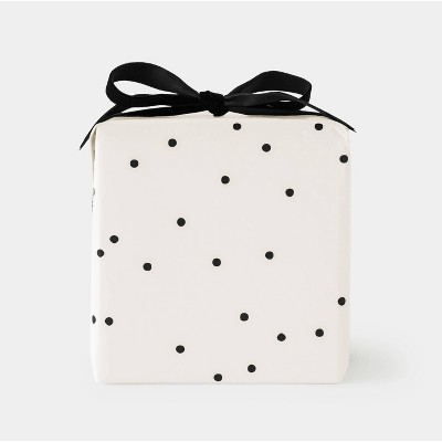 Cream and Black Scattered Dot Gift Wrap - Sugar Paper™