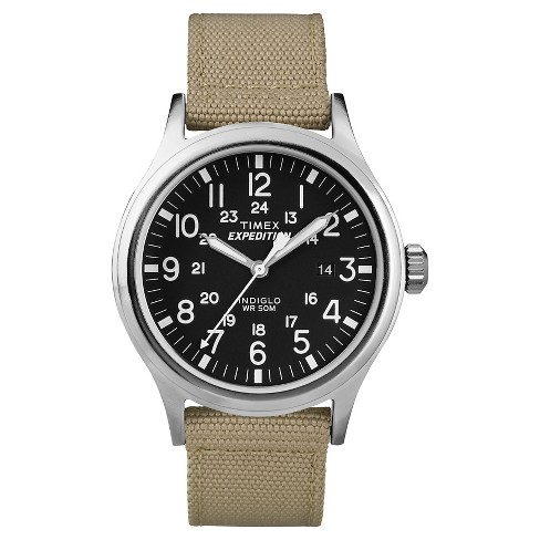 Men's Timex Expedition Scout Watch with Nylon Strap - Silver/Black/Tan T49962JT - image 1 of 1