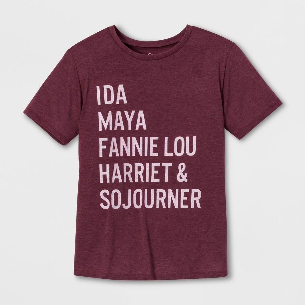 Well Worn Women's Short Sleeve Heroes T-Shirt - Burgundy S, Purple