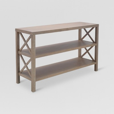 Owings Console Table with 2 Shelves Rustic - Threshold™