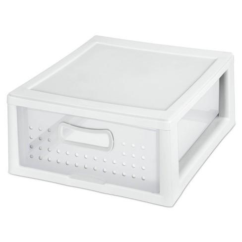 Sterilite Storage Shallow Modular Drawers White - image 1 of 4
