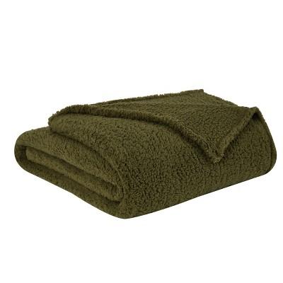 "50""x60"" Marshmallow Sherpa Throw Blanket - Brooklyn Loom"