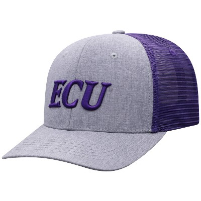NCAA East Carolina Pirates Men's Gray Chambray with Hard Mesh Snapback Hat
