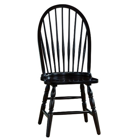 Garner Windsor Chair - Carolina Chair and Table - Garner Windsor Chair - Antique Black - Carolina Chair And Table : Target